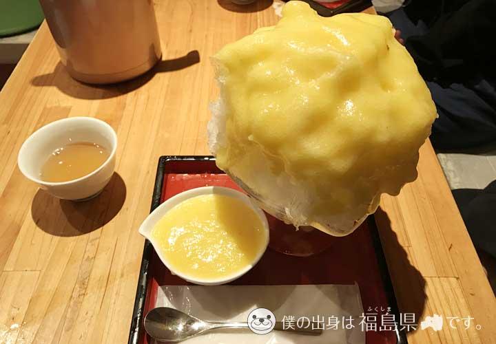 ひみつ堂のパイナップルかき氷