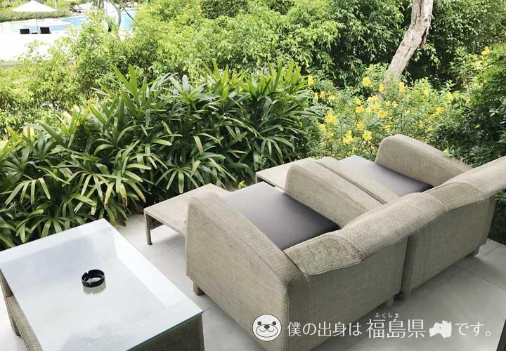 シェルリゾート客室の椅子