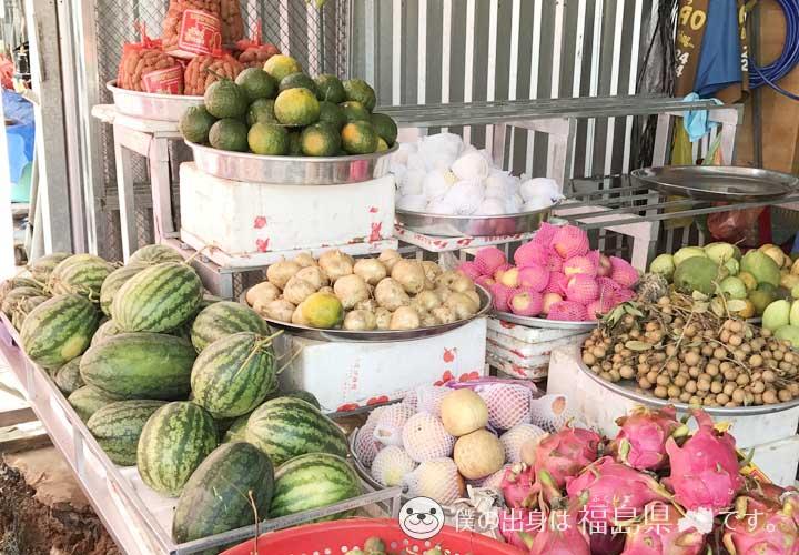 フーコック島の果物売り場