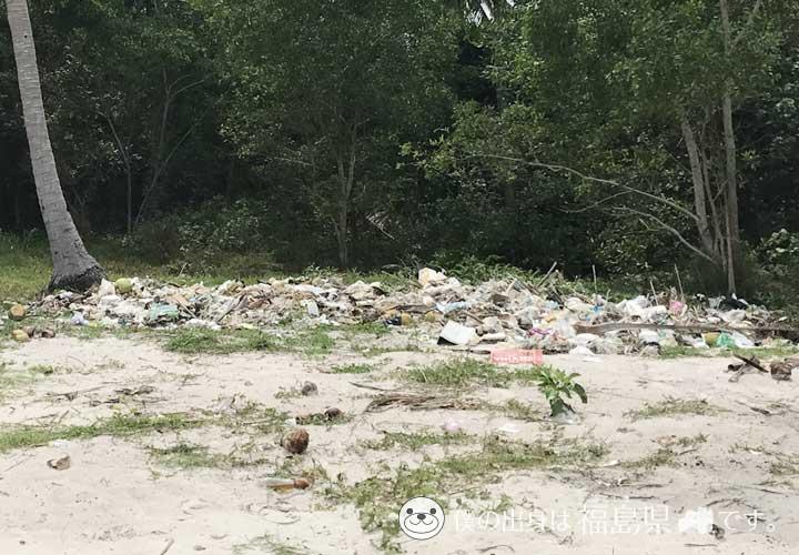サオビーチのゴミ