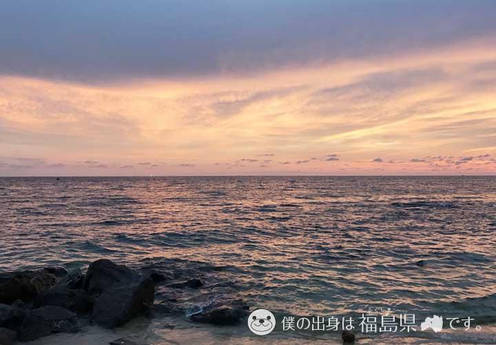 橙色の空とフーコックの海