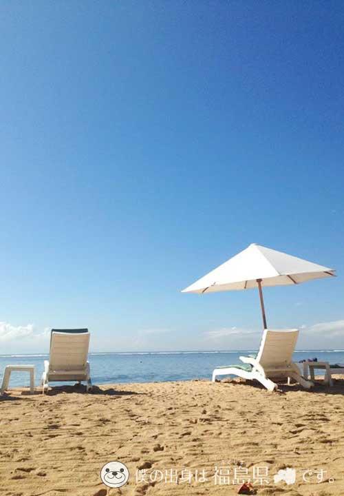 バリ島の青空