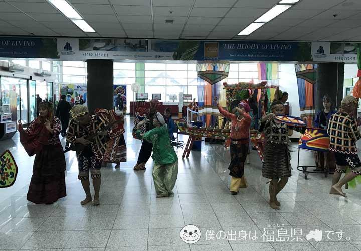 ダバオ国際空港の歓迎ダンス