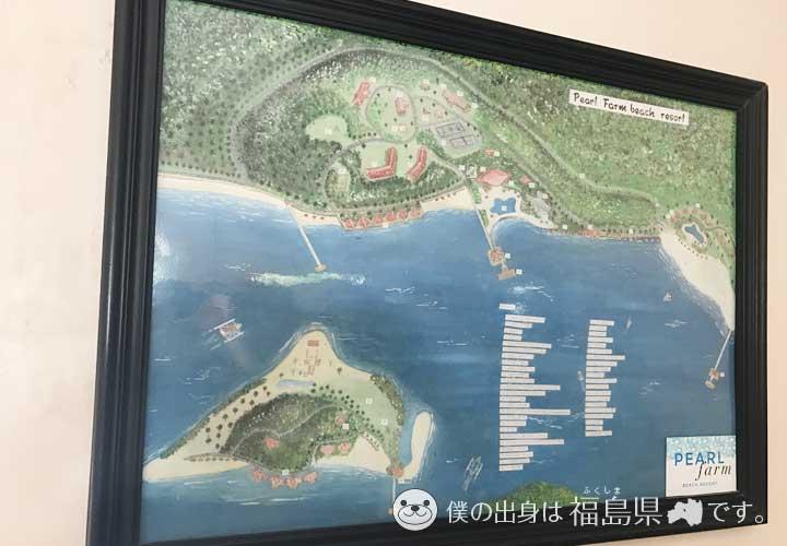 パールファームビーチリゾートの全体地図