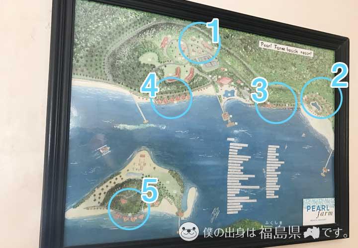 ホテルの全体マップ説明