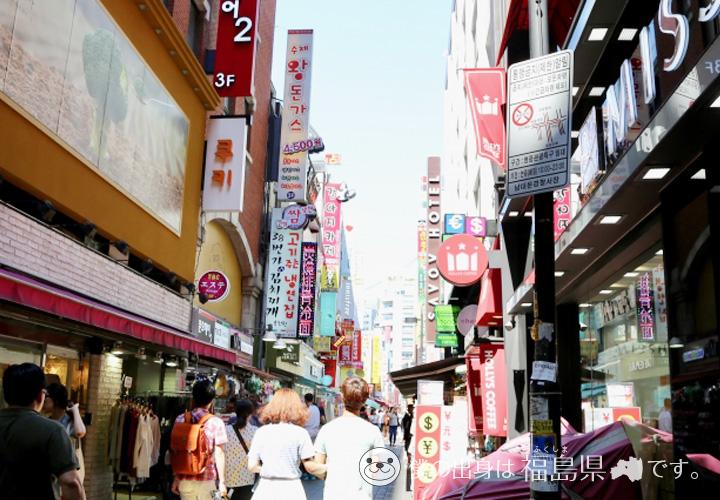 韓国の商店街