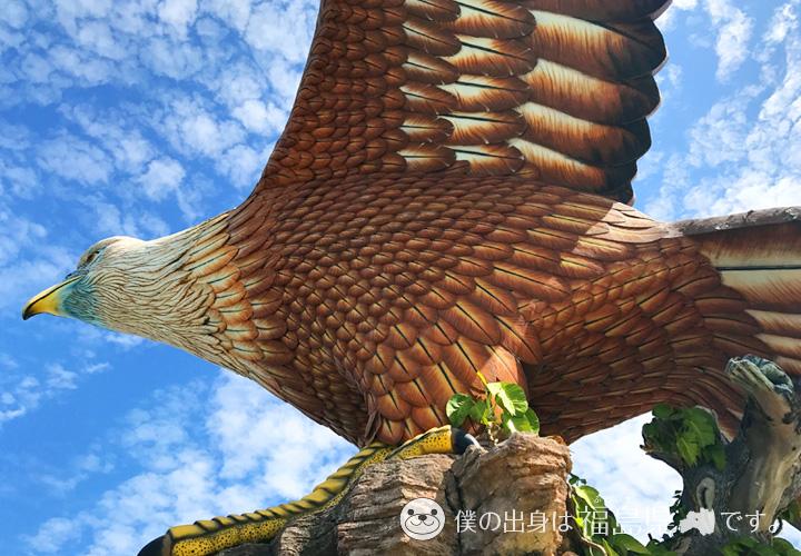イーグルスクエアの大鷲(ワシ)像