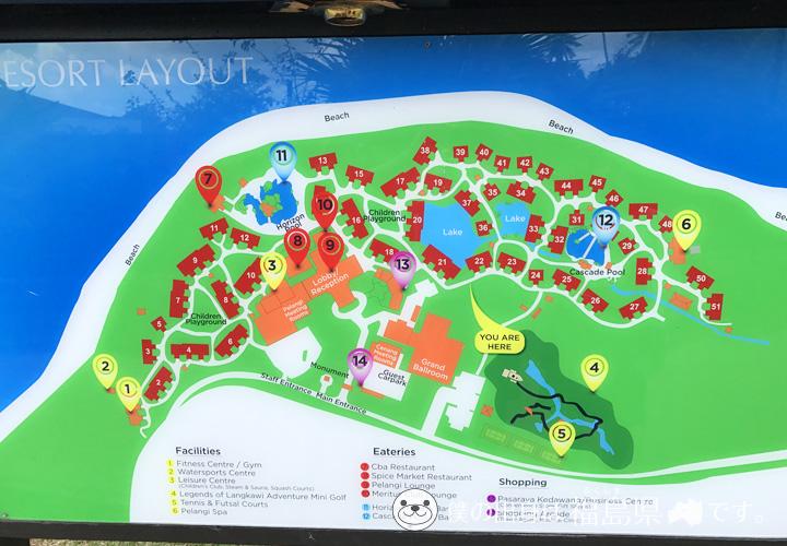 メリタスペランギビーチリゾートスパの地図