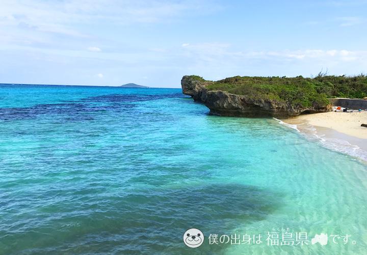 宮古島のくじら岩と海