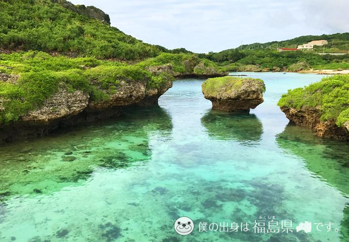 入江の透明度抜群の海