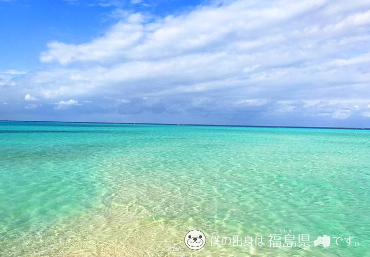 宮古島の透明度抜群な海