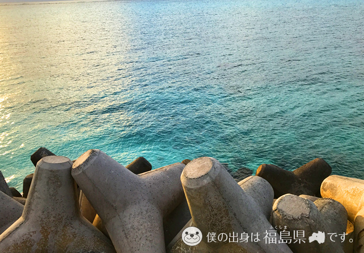 下地島の透明度抜群の海
