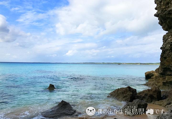 砂山ビーチから見える伊良部島