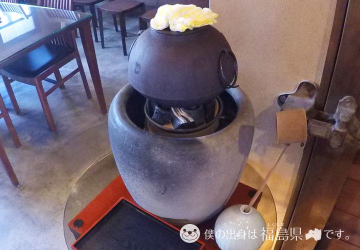 炭で沸かしたお茶