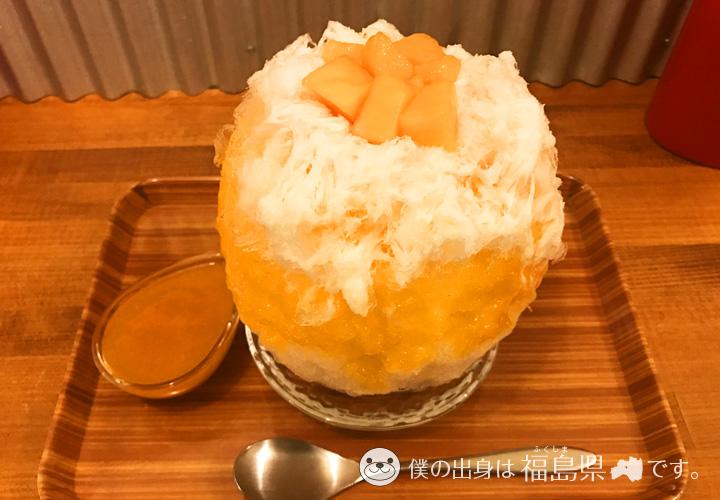ハチクのメロンかき氷