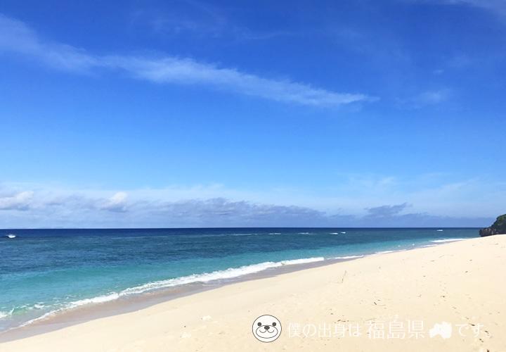 パラダイスビーチの砂浜と海