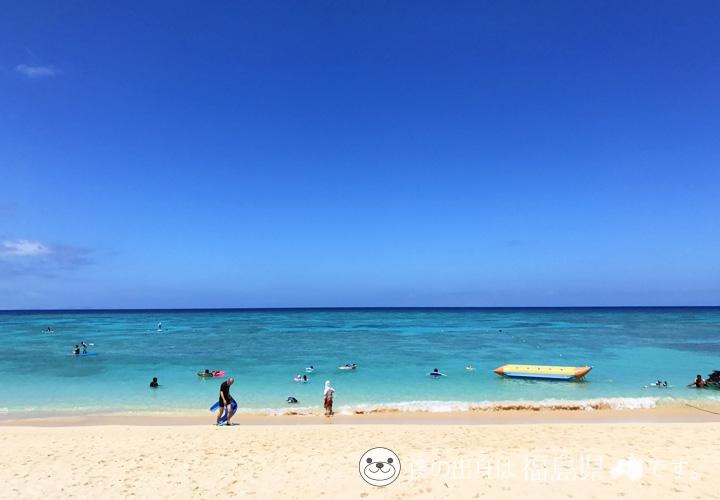 プリシアリゾート前の海は透明度抜群