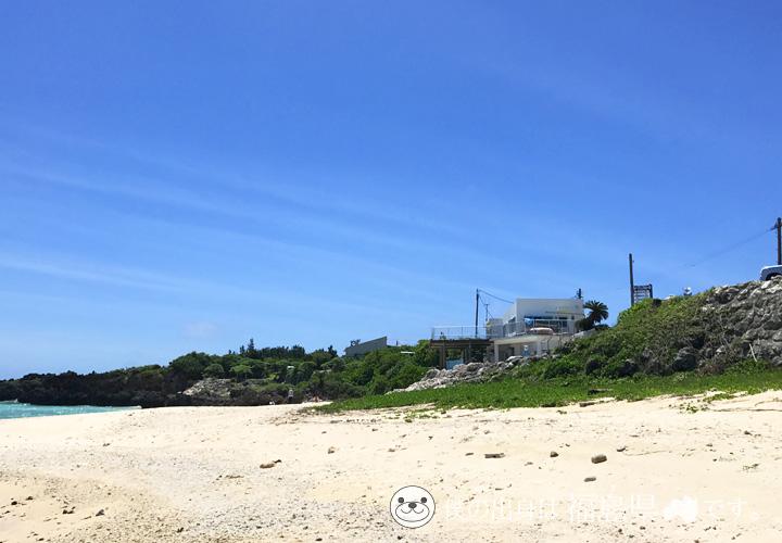 シーマンズビーチの砂浜