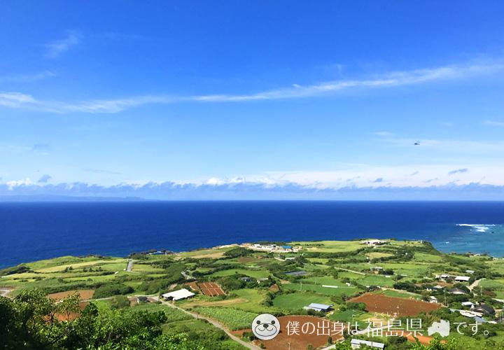 与論島全体の眺め
