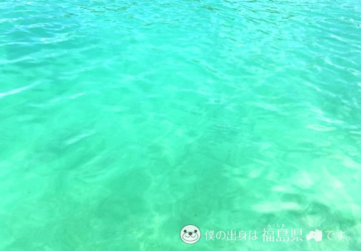 皆田海岸の透明度が高い海