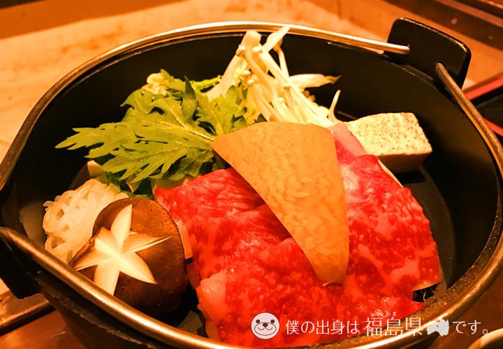 栃木牛のすき焼き