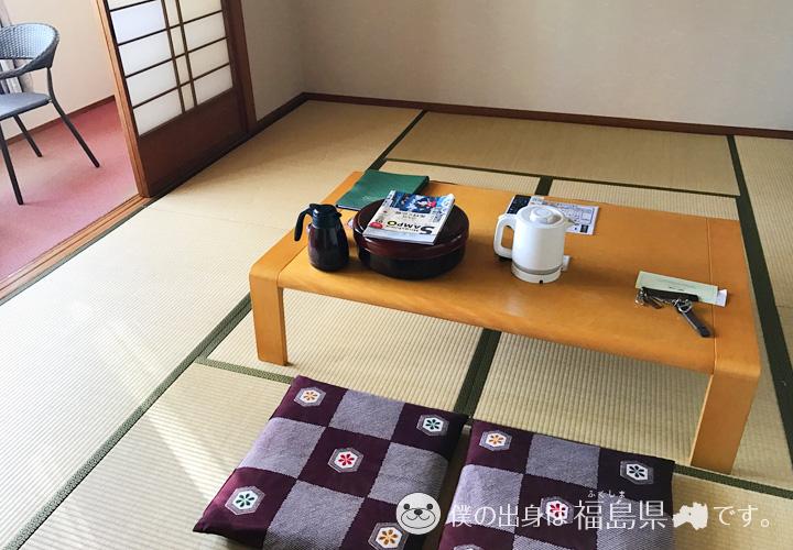休暇村の和室部屋