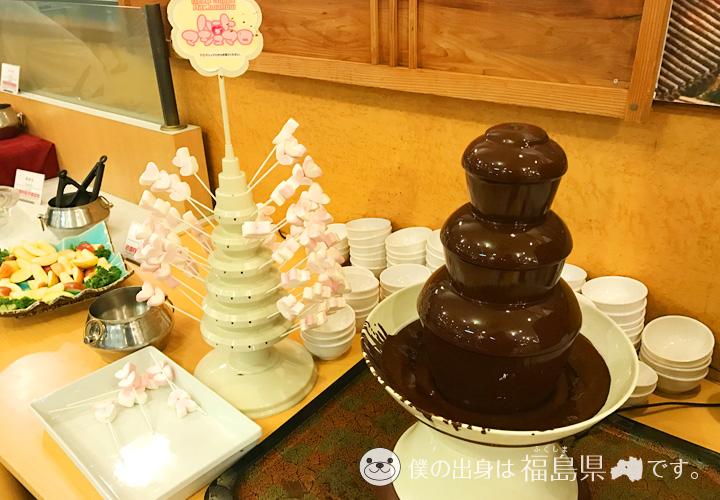 マシュマロとチョコレートフォンデュ