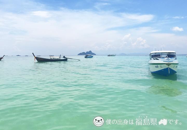 ホテル目の前の海とフェリー